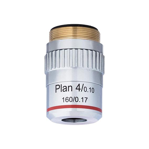 Objetivo de microscopio Amscope 4x 0,17 para macro extremo
