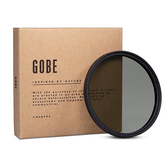 Filtro polarizador para fotografía marca Gobe