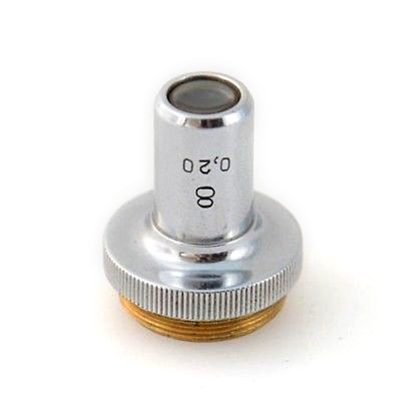 Objetivo de microscopio Lomo 8x 0,20 para macro extremo