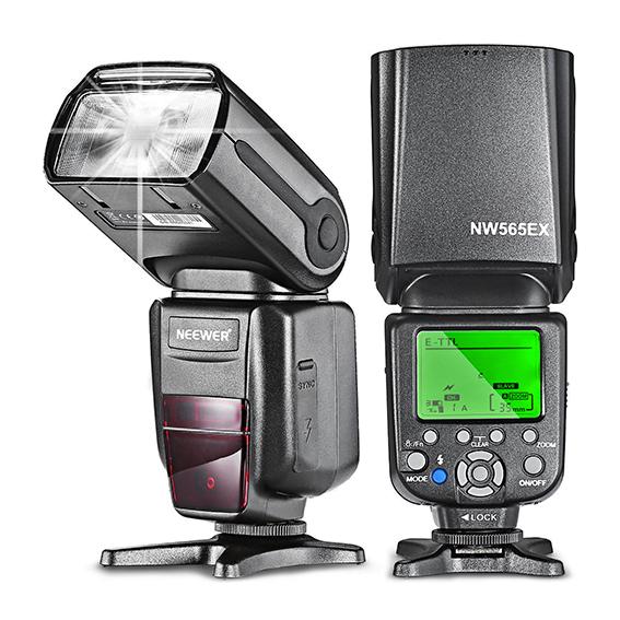 Flash de mano económico para fotografía marca Neewer