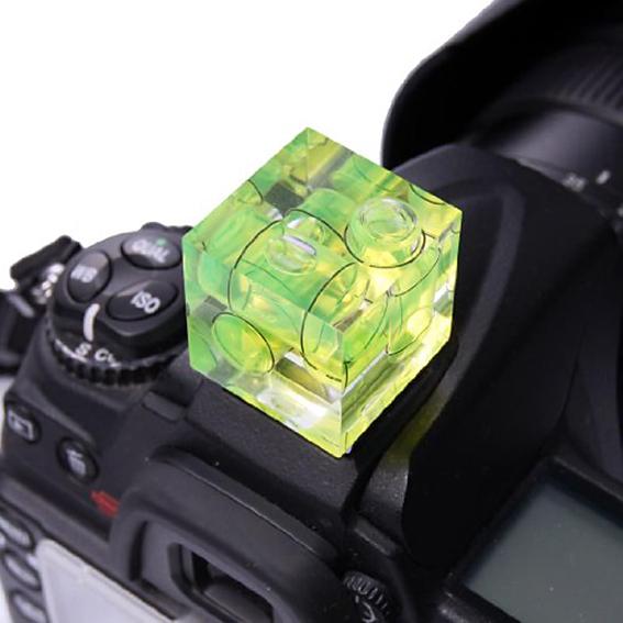 Nivel de burbuja para cámara de fotos